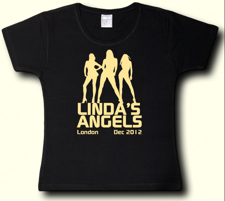 Charlie 39 s angels hen party t shirt designs for Hen party t shirts